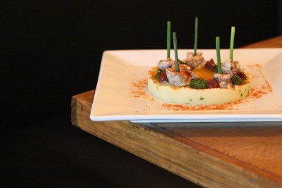 Boqueró – vinegar-marinated anchovy salad, avocado, diced tomato