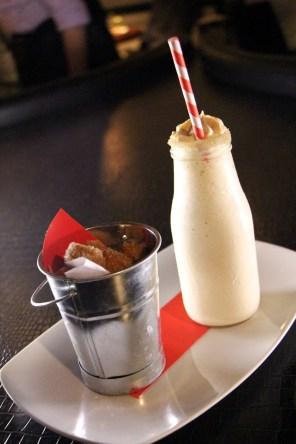 Churro Milkshake - dulce de leche ice cream, cinnamon liquor, bourbon, side of churros