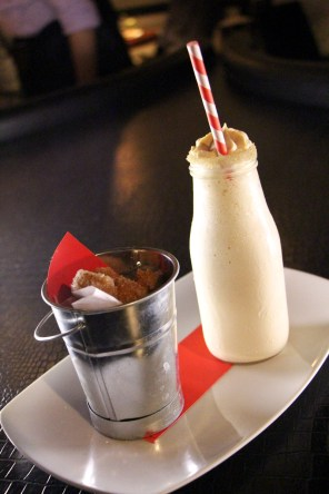Churro Milkshake - dulce de leche ice cream, cinnamon liquor, bourbon, side of churros