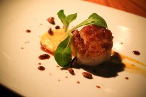 Seared Scallops - short rib marmalade, squash puree, pomegranate