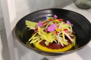 Tartare – fl yellowjack, celery, black lime, radish, green mango