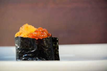 Sea Urchin with Salmon Roe