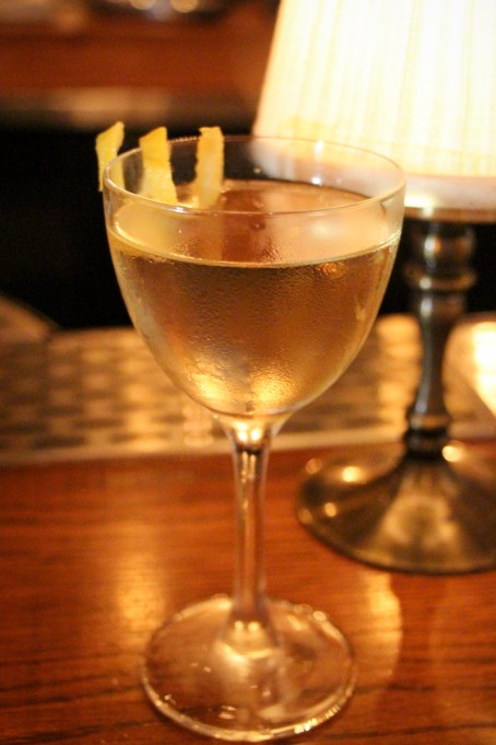 Gold Lightning – Cocchi, St Germain, basil, sparkling wine