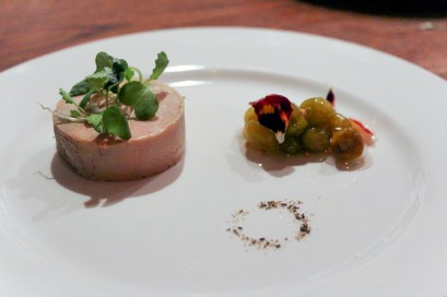 Foie w/ ground cherry mostarda