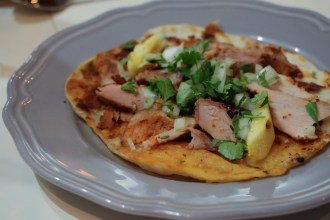 La Gringa – Al pastor, Chihuahua cheese, pineapple, the garden