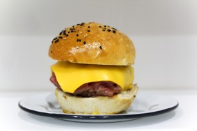 Side of cheeseburger
