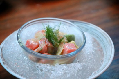 Salmon Ceviche – faroe islands salmon, grapefruit, avocado, fennel