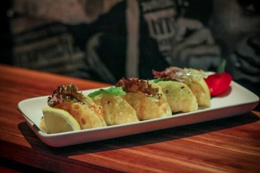 Salmon Taco – spicy mayonnaise, avocado, truffle oil