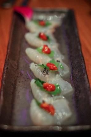 White Fish Truffle – lychee, yuzu, hawaiian sea salt, wasabi caviar