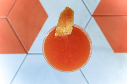 El Conejo made with Cruzan Rum, Carrot Juice, Florida Grapefruit & Sea