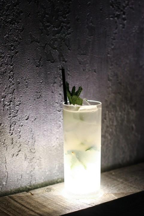 Mojito Posh-Nosh – Barbancourt Rhum, Shiso, Mint, Limes & Lychee