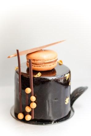 Manjari - Chocolate mousse with Vanilla crème brulee