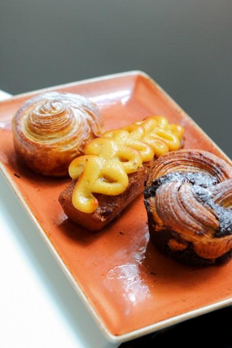 Dulce de Leche Roll, Passion Fruit Hazelnut & Chocolate Babka,