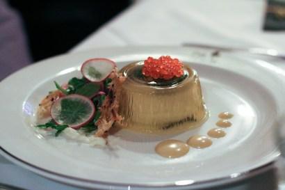Oeufs en Gelѐe with Smoked Trout Roe & Bourbon Crème Fraiche