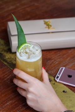 The Getaway w/ Plantation Pineapple Rum, Tamarind Ginger Chutney, Pineapple, Lime & Ginger Beer (pic of chic w/ iPhone)