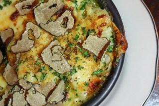 Tagliatelle w/ roasted mushrooms, garlic, parsley, parmigiano, black truffle