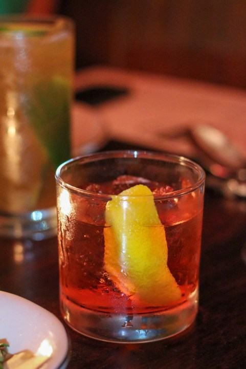 Just Tell Me w/ Casamigos Tequila Reposado, Campari, Dimmi, orange twist