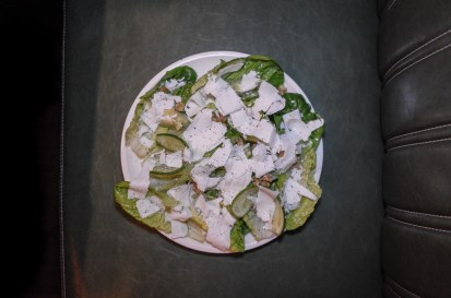 Little Gem Salad w/ Avocado, Cucumber, Ricotta Salata + Walnut Vinaigrette