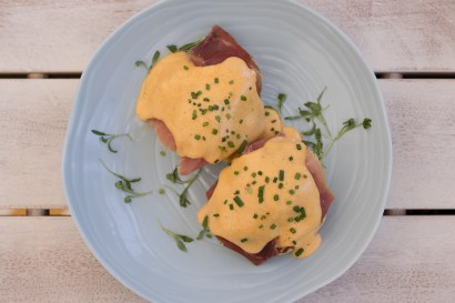 Bird & Bone Eggs Benedict