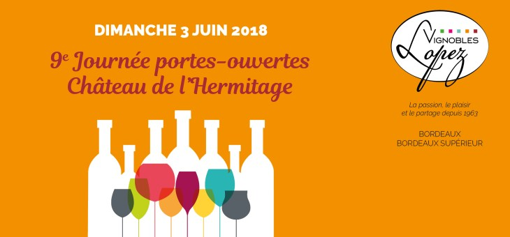 Journée portes-ouvertes Château de l'Hermitage le 3 juin 2018 !