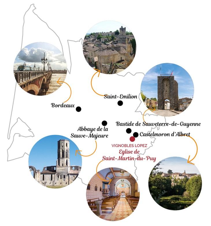 Tourisme Entre-deux-Mers Vignobles Lopez Château de l'Hermitage
