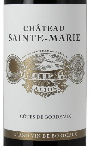 achat vin bordeaux, cotes de bordeaux alios, chateau sainte marie