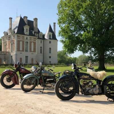 chateau selles sur cher 3 motos indian