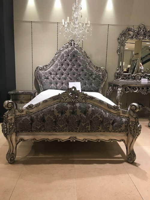 The Charles Bed  Antique Silver 109900  Beds Chateau