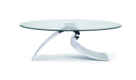 Table Basse Design Verre Trempe Et Metal