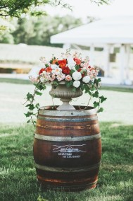 Barrel + Flowers