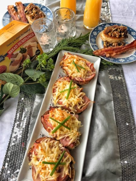 ham, gruyere, french tast, savory, holidays