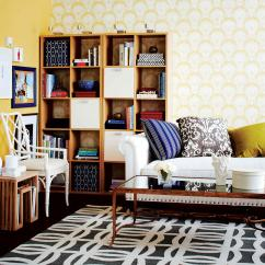 How To Make Living Room Mirrors Wall Create A Stylish Workplace In Your Chatelaine Get Creative With Shelving
