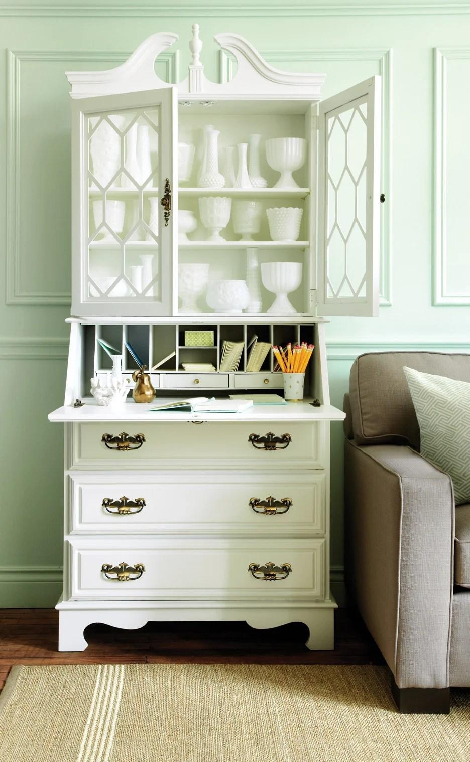 Home office idea How to turn a bookcase bureau into an