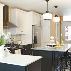 Kitchen Design Budget Bar Height Island Sarah Richardson S Makeover On A Mix And Match Light Dark Cabinets