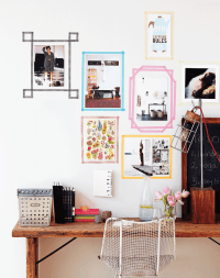 Create modern wall art frames with washi tape - Chatelaine