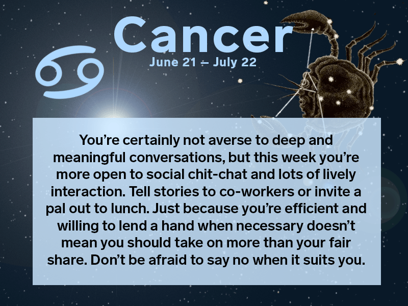 Your weekly horoscope June 27  July 3 2016  Chatelaine