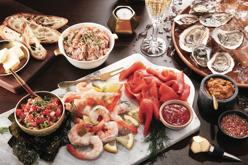 3 cheese seafood and charcuterie boards for the holidays