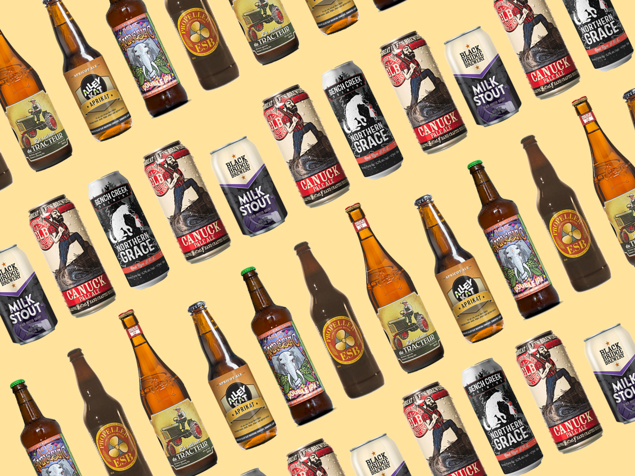 hight resolution of craft beer canada