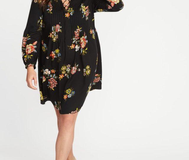 Plus Size Pintuck Swing Dress  Oldnavy Ca