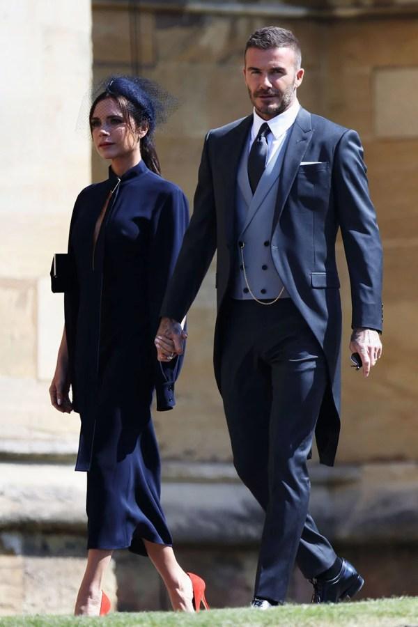 David and Victoria Beckham at Royal Wedding