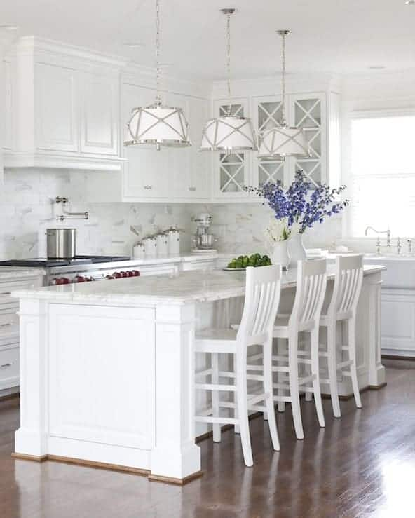 All White Kitchen Paint Colors