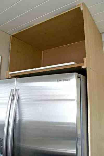 diy outdoor refrigerator cabinet DIY Refrigerator Cabinet