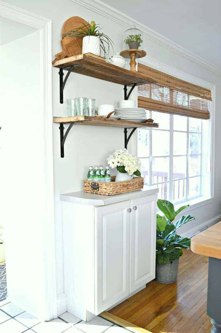wood shelves kitchen beach cabinets diy open shelving for under 50 chatfield court adding beautiful a great way to add rustic