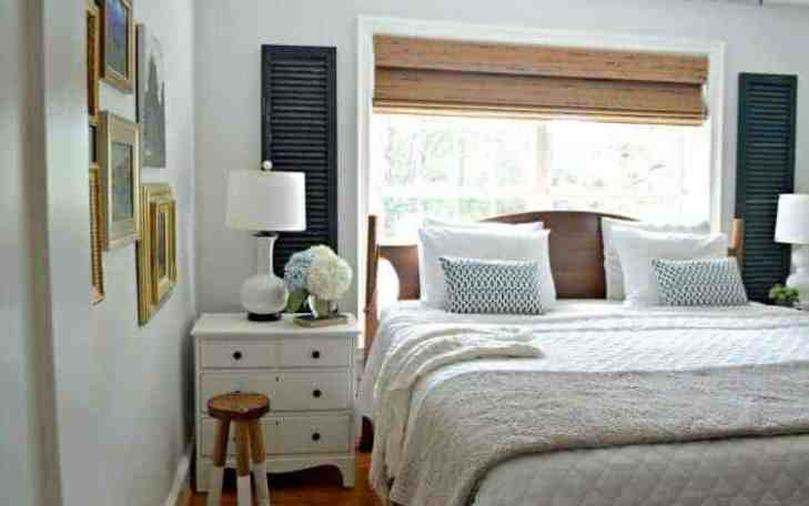 repurpose old shutters - add character to windows in bedroom - Chatfield Court.com