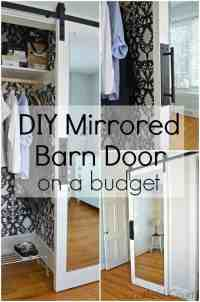 How to Make a Mirrored Barn Door From an Old Wood Door