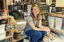 Lara in her studio