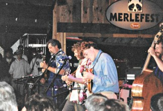 Chris Thile, Sam Bush & Tony at Merlefest