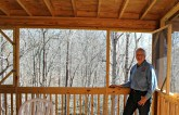Tony built this screened porch overlooking the river