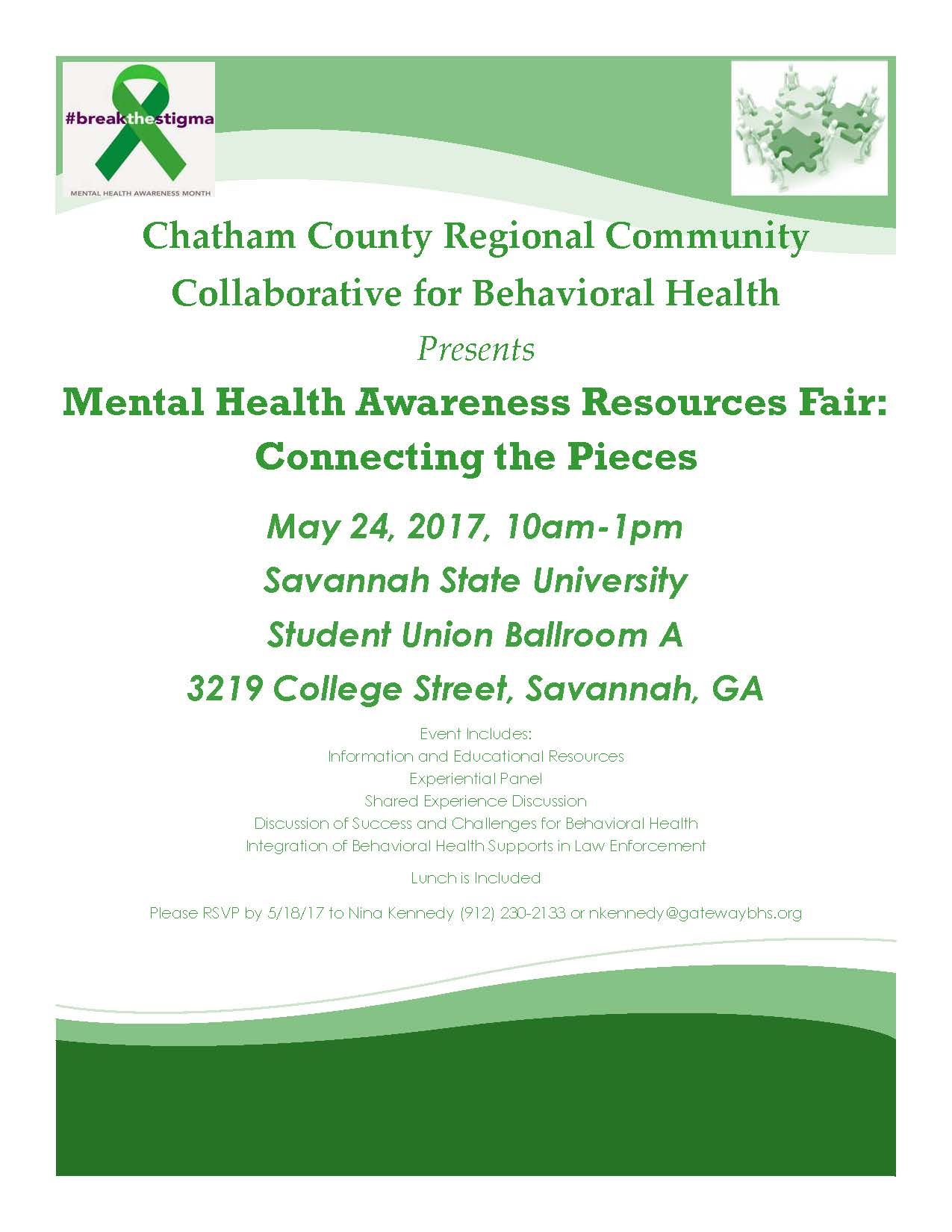 Mental Health Awareness Resources Fair Connecting The Pieces