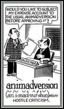 learn english word Animadversion and cartoon